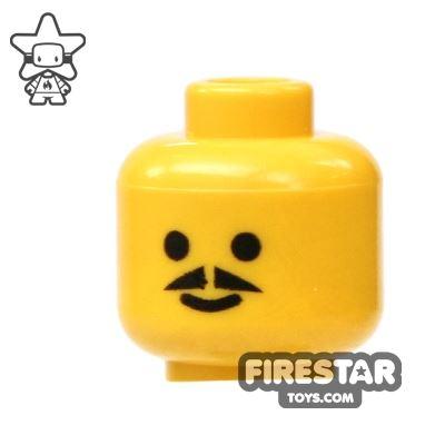 LEGO Mini Figure Heads - Pointed Moustache