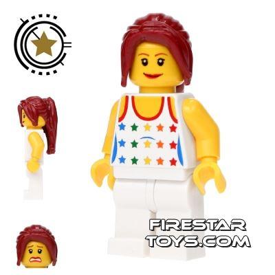 LEGO City Mini Figure - Female Star Pattern Top