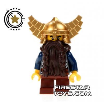 LEGO Castle Fantasy Era - Dwarf - Gold Helmet With Wings