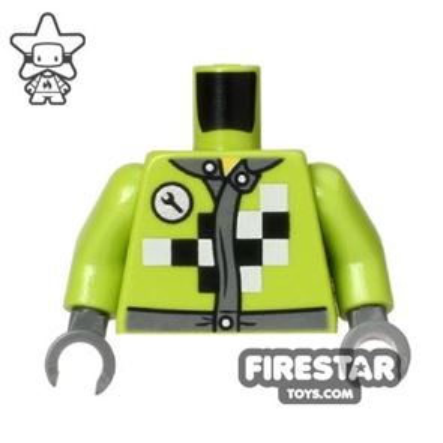 LEGO Mini Figure Torso - Monster Truck Mechanic