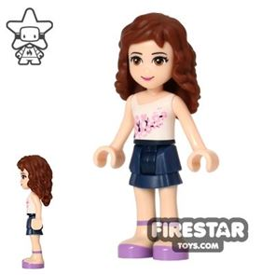 LEGO Friends Mini Figure - Olivia - Dark Blue Layered Skirt