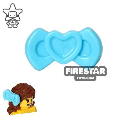 LEGO Hair Accessory - Heart Bow - Medium Azure