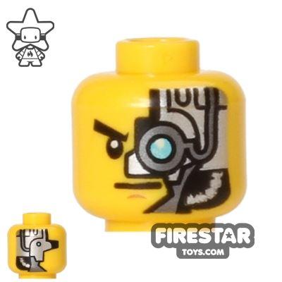 LEGO Mini Figure Heads - Blue Mechanical Eye