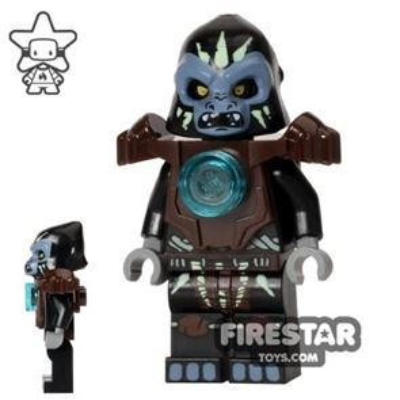 LEGO Legends of Chima Mini Figure - Gorzan - Dark Brown Heavy Armour