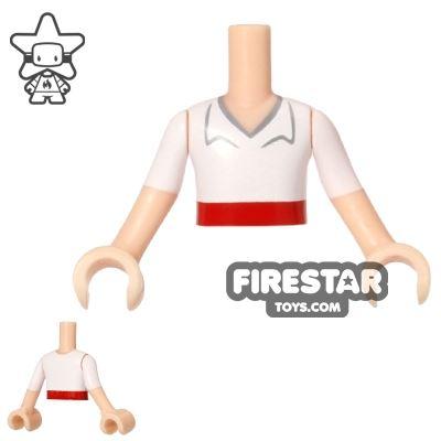 LEGO Disney Princess Mini Figure Torso - White Shirt - Red Belt