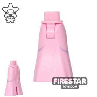 LEGO Disney Princess Mini Figure Legs - Long Light Pink Skirt