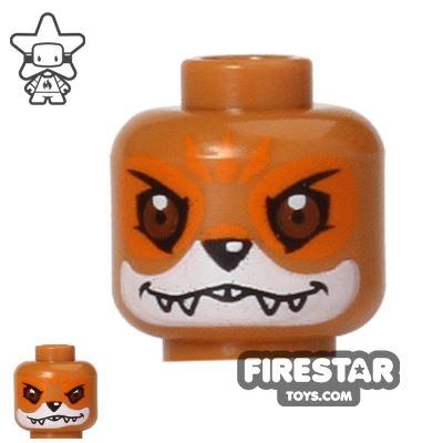 LEGO Mini Figure Heads - Fox - Furty