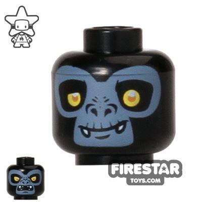 LEGO Mini Figure Heads - Gorilla - Gorzan