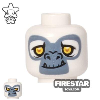 LEGO Mini Figure Heads - Gorilla - Grizzam