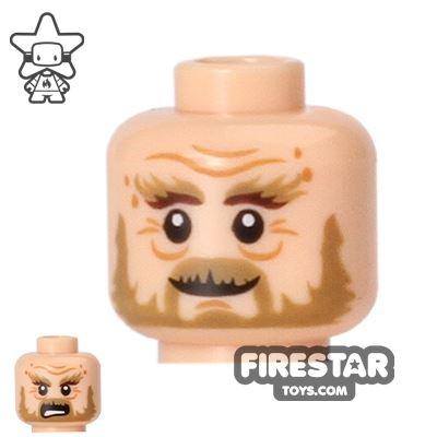 LEGO Mini Figure Heads - Bushy Eyebrows - Wrinkles