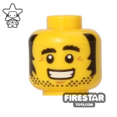 LEGO Mini Figure Heads - Big Grin and Sideburns
