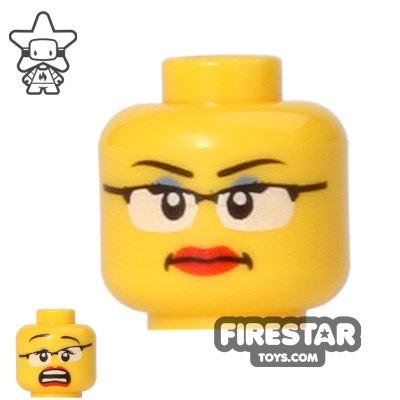 LEGO Mini Figure Heads - Glasses - Smile/Scared