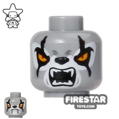 LEGO Mini Figure Heads - Wolf - Fangs