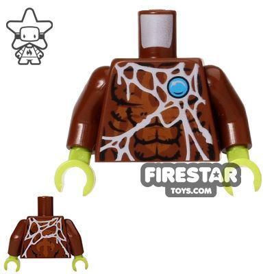 LEGO Mini Figure Torso - Spider - Web Pattern