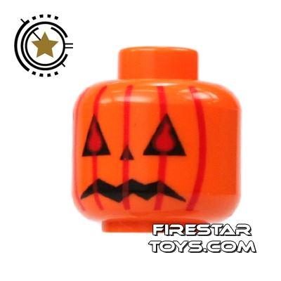LEGO Mini Figure Heads - Pumpkin