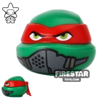 LEGO Mini Figure Heads - Teenage Mutant Ninja Turtles - Raphael Mask
