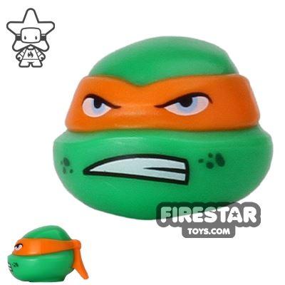 LEGO Mini Figure Heads - Teenage Mutant Ninja Turtles - Michelangelo Scowl