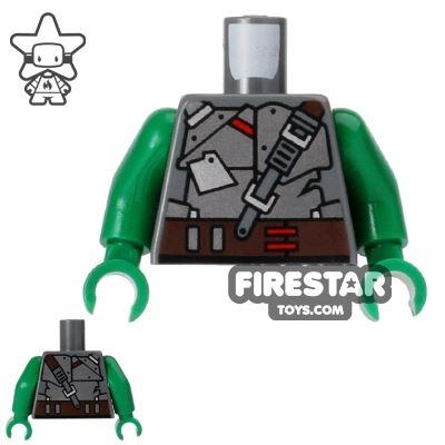 LEGO Mini Figure Torso - Teenage Mutant Ninja Turtles - Raphael Armour