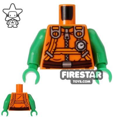 LEGO Mini Figure Torso - Teenage Mutant Ninja Turtles - Michelangelo Jumpsuit