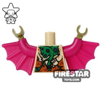 LEGO Mini Figure Torso - Teenage Mutant Ninja Turtles - Dr O'Neil Bat Wings