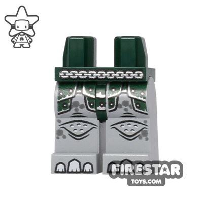 LEGO Mini Figure Legs - Rhino - Dark Green Armour