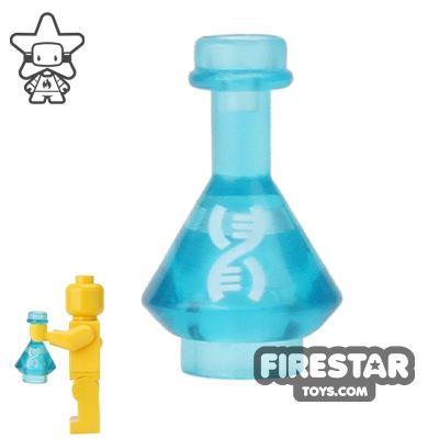 BrickForge - Potion Flask - Trans Blue - DNA