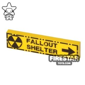 Printed Tile 1x4 - Fallout Shelter