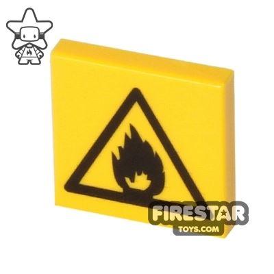 Printed Tile 2x2 - Flammable