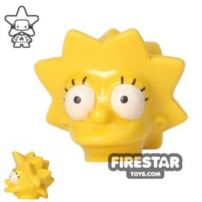 LEGO Mini Figure Heads - The Simpsons - Lisa Simpson