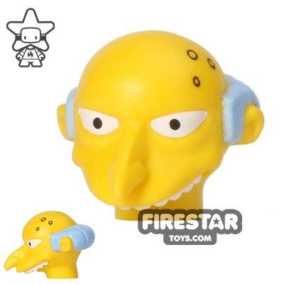 LEGO Mini Figure Heads - The Simpsons - Mr Burns