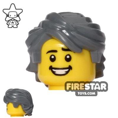 LEGO Hair Mid Length Swept Back