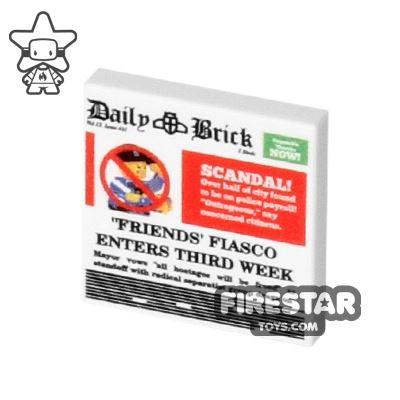 Printed Tile 2x2 - Newspaper - Daily Brick