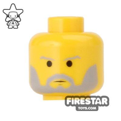 LEGO Mini Figure Heads - Obi-Wan Kenobi - Gray Bead