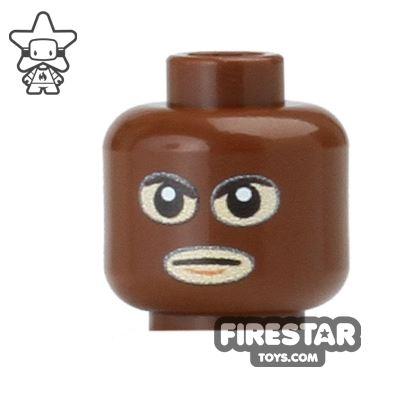 Custom Mini Figure Heads - Ski Mask - Reddish Brown
