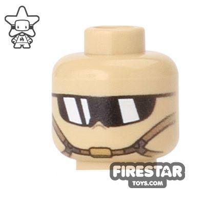 Custom Mini Figure Heads - Desert Warfare - Tan