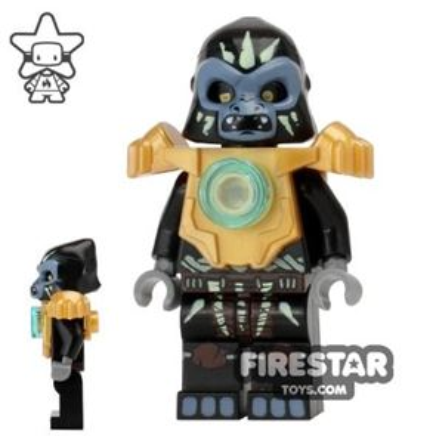 LEGO Legends of Chima Mini Figure - Gorzan - Pearl Gold Heavy Armour
