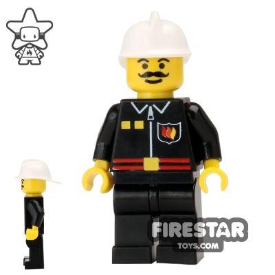 LEGO City Mini Figure - Fire Chief - Flame Badge