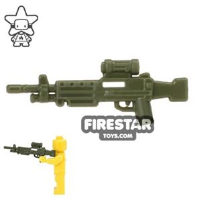 CombatBrick - M249 SAW Light Machine Gun - Dark Green