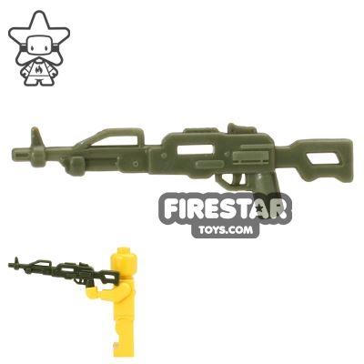 CombatBrick - Russian PKP Pecheneg Machine Gun - Dark Green