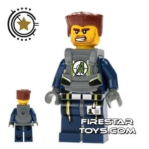 LEGO Agent Mini Figure -  Agent Charge With Armour