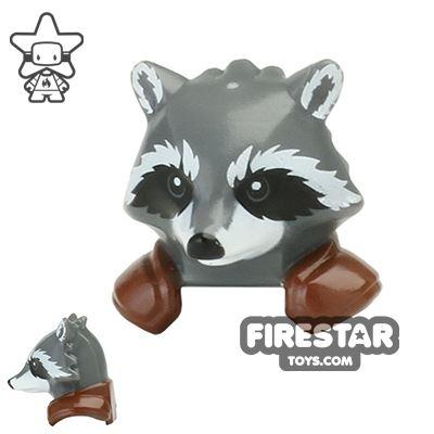 LEGO Mini Figure Heads Rocket Raccoon