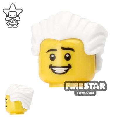 LEGO Hair - Slicked Back - White