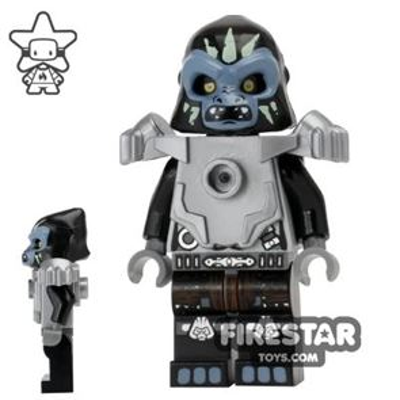 LEGO Legends of Chima Mini Figure - Gorzan - Flat Silver Heavy Armour