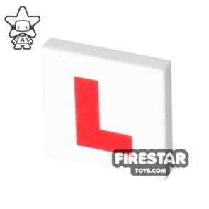 Printed Tile 2x2 - L Plate - Learner Driver Plate