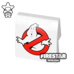 Printed Curved Slope 2x2 Ghostbusters Logo
