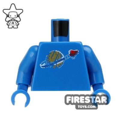 LEGO Mini Figure Torso - Blue Space Torso