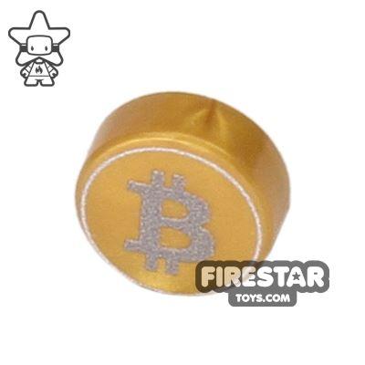 Printed Round Tile 1x1 - Brickcoin - Bitcoin