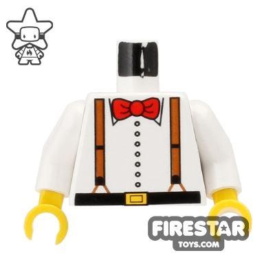 LEGO Mini Figure Torso - Bow Tie and Braces