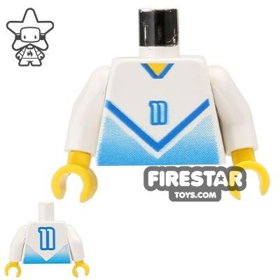 LEGO Mini Figure Torso - Blue Football Soccer Shirt - #11
