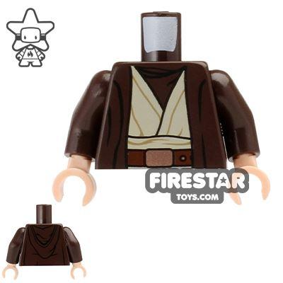 LEGO Mini Figure Torso - Star Wars - Dark Brown Robe